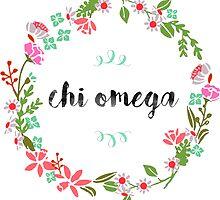 Chi Omega Wreath by SLEV