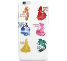 Disney Princesses Quotes iPhone Case/Skin