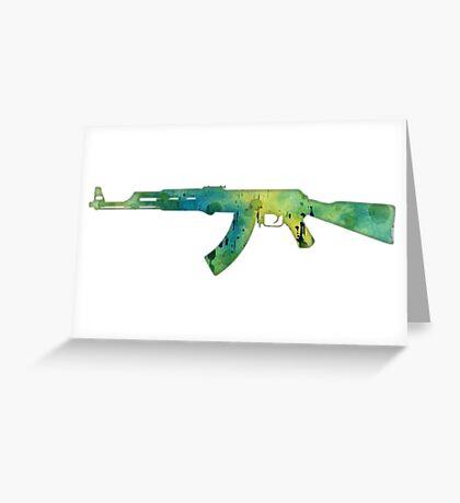 Paint Gun Greeting Card