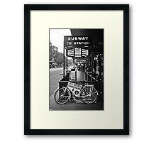 FLINDERS SUBWAY Framed Print