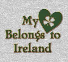 My Heart Belongs To Ireland Kids Tee