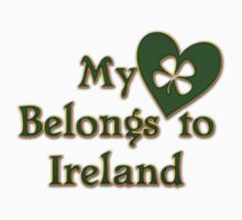 My Heart Belongs To Ireland Kids Tee