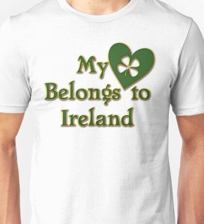 My Heart Belongs To Ireland Unisex T-Shirt