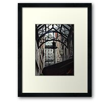In the Alley and Above Framed Print