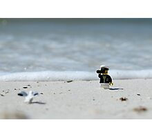 Sea Captain - Bird Watching at the Beach Photographic Print