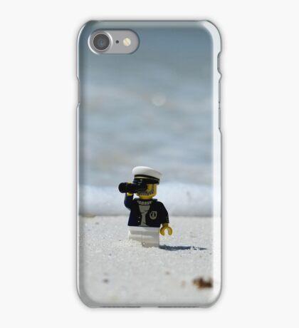 Sea Captain - Bird Watching at the Beach iPhone Case/Skin