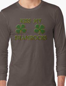 Irish Kiss My Shamrocks Long Sleeve T-Shirt