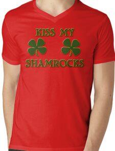 Irish Kiss My Shamrocks Mens V-Neck T-Shirt