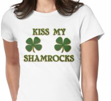Irish Kiss My Shamrocks Womens Fitted T-Shirt