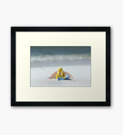 Mermaid - Day at the Beach Framed Print