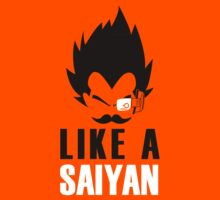 Feel like a Saiyan (b/w) by karlangas