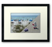 Yeti - Strolling on the Boardwalk Framed Print