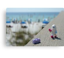Yeti - Strolling on the Boardwalk Canvas Print