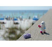 Yeti - Strolling on the Boardwalk Photographic Print