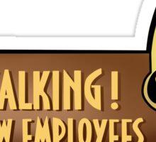 No talking! Sticker