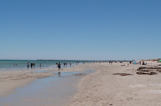 Enjoying a morning walk on the Beach, Semaphore, Adelaide. S.A. by Rita Blom