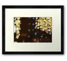 Light-Rings By Night Framed Print
