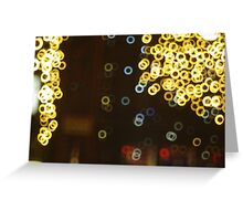 Light-Rings By Night Greeting Card