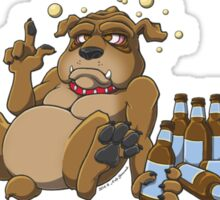In Dog Beers (Brown) Sticker