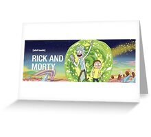 Rick and morty (waiting season 3) Greeting Card