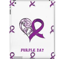 CHARITY FUNDRAISER - IPAD CASE PURPLE DAY FOR EPILEPSY AWARENESS  MARCH 26 2014 iPad Case/Skin