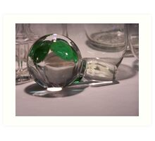 Clear Glass, with Green 02 Art Print