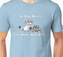 In Dog Beers (Gray) Unisex T-Shirt