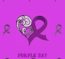 CHARITY FUNDRAISER - iPad Cover, PURPLE DAY FOR EPILEPSY AWARENESS  MARCH 26 2014 by Rebecca Hansen