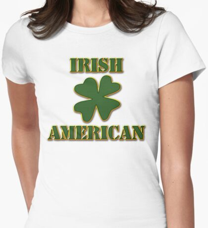 Irish American Womens Fitted T-Shirt