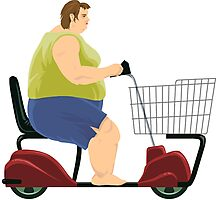 CHEAP happy wheels Effective Shopper - fat lady Photographic Print