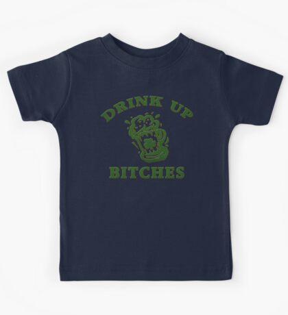 Irish Drink UP Bitches Kids Tee