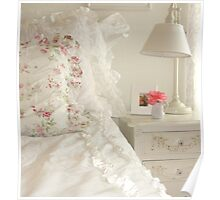 Shabby Chic Bedroom Poster