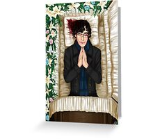 Sherlock Casket Greeting Card