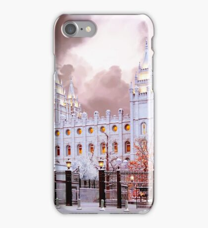 Salt Lake Temple Winter Gate iPhone Case/Skin