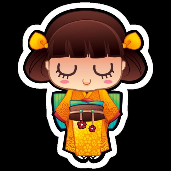 Kokeshi Orange by mechbunnies