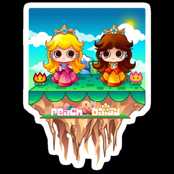 Peach & Daisy by mechbunnies