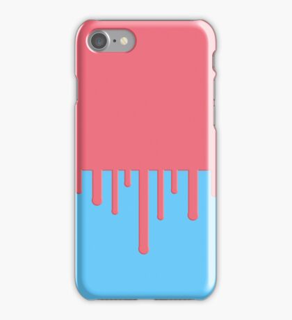 Drip - Red and blue  iPhone Case/Skin