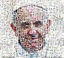 Pope Francis Digital Mosaic by ADHDDESIGN