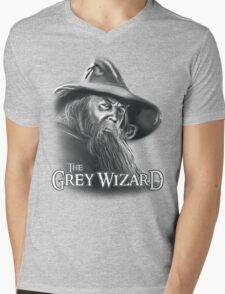 The Grey Wizard Mens V-Neck T-Shirt