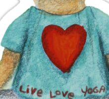 Marion live love yoga bear Sticker