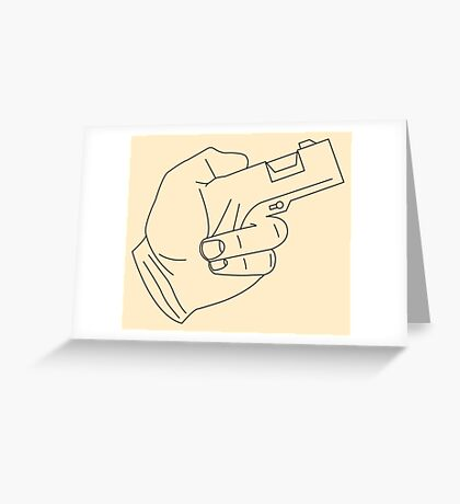 Hand Gun Greeting Card