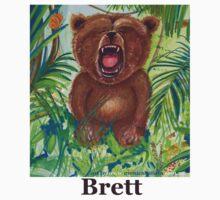 Brett live love yoga bear Baby Tee