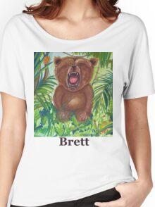 Brett live love yoga bear Women's Relaxed Fit T-Shirt