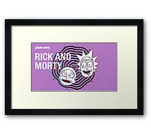 Rick and morty (waiting season 3) #2  Framed Print