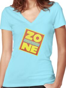 Discovery Zone Women's Fitted V-Neck T-Shirt