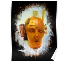 Dada Mechanical Head Painted Poster