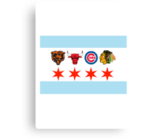Chicago Sports 2 Canvas Print