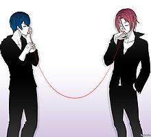 Free! - Red String by scarlet-neko
