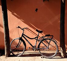 Bicycle and Shadows in Rishikesh by JJQAD
