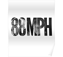 88 MPH Back To The Future Poster